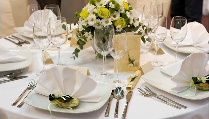 Opciones para el banquete de bodas